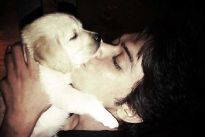 Kunwar Amar with his pet