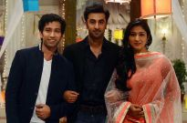Ranbir Kapoor with Nakuul Mehta and Disha Parmar
