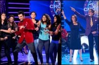 Neetu and Ranbir Kapoor on the sets of KBC