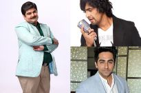 Sonu Nigam, Ayushmann Khurrana and Deven Bhojani