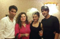 Percy and Delnaaz with good friends Aashka Goradia and Rohit Bakshi