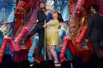 Ranveer Singh and Bharti's pole dance on Comedy Circus Ke Mahabali