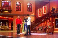 Harshad Arora and Preetika Rao on the sets of Comedy Nights With Kapil