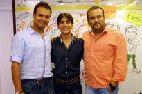 Rohit Shastri, Singer and Associate Creative Head of Mahabharat and ProducersRahul Kumar Tewary and Siddharth Kumar Tewary