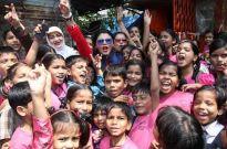 Rakhi Sawant celebrates