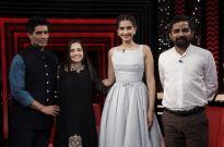 Manish Malhotra, Sonam Kapoor, Sabyasachi Mukherjee with Anupama Chopra