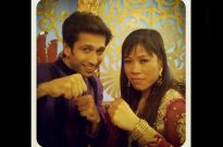 Nakuul Mehta with Mary Kom