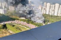 Fire on the sets of Jamai Raja