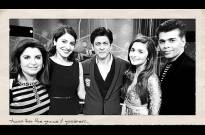 SRK with his freinds Karan Johar, Farah Khan, Alia Bhatt and Anushka Sharma