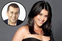 Ekta Kapoor and Chetan Bhagat