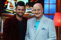 Suresh Raina and Anupam Kher