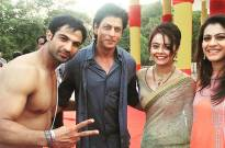 Mohammad Nazim and Devoleena Bhattacharjee with SRK-Kajol