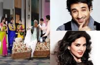 Sunny Leone and Vir Das in SABTV
