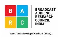 BARC India Ratings: Week 25 (2016)