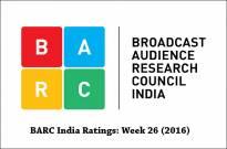 BARC India Ratings: Week 26 (2016)