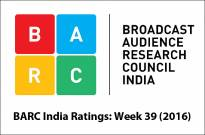 BARC India Ratings: Week 39 (2016)