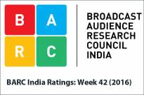 BARC India Ratings: Week 42 (2016)