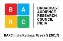 BARC India Ratings: Week 5 (2017)