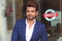 Karan Kundra, Crystal,  Red and Royal Blue Suit, Modish and Comfortable Outfit