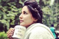 Check out THIS beautiful BTS photo of Hina Khan from the shoot of Country Of Blind