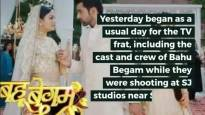 Bahu Begum shooting gets halted; massive fire breakdown in SJ Studios