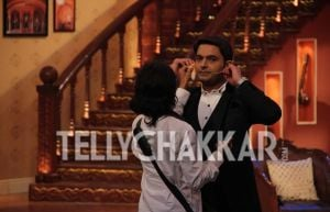 On the sets of Colors' Comedy Nights With Kapil