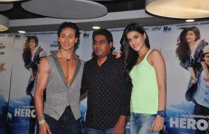 Tiger Shroff, Sabbir Khan and Kriti Sanon