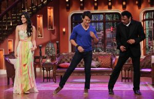 Tiger Shroff ,Kriti Sanon and Jackie Shroff on Comedy Nights With Kapil