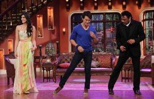 Tiger Shroff ,Kriti Sanon and Jackie Shroff on Comedy Nights With Kapil