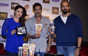 Ajay Devgan,Kareena Kapoor and Director Rohit Shetty