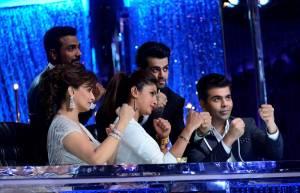 Remo D'Souza, Priyanka Chopra, Karan Johar and Madhuri Dixit Nene