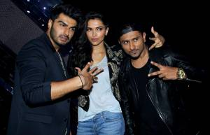 Arjun Kapoor, Deepika Padukone and singer Yo Yo Honey Singh