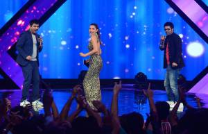 Gauhar Khan along with Sachin and Jigar