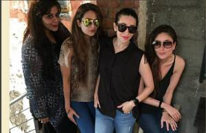 Kareena Kapoor, Karisma Kapoor and Amrita Arora