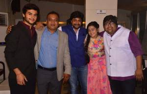 Vikas Seth, Deepak Kumar and Mahesh Pandey with Ankush Arora (Kartik) and Roshni Walia