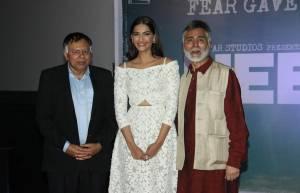 Aneesh Bhanot and Akhil Bhanot with Sonam Kapoor