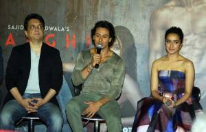 Sajid Nadiadwala, Tiger Shroff and Shraddha Kapoor