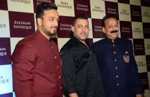 Zeeshan Siddique, Salman Khan and Baba Siddique