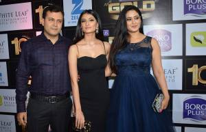 Shweta Tiwari with husband Abhinav Kohli and daughter Palak
