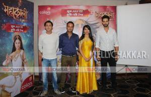 Producer Siddharth Kumar Tewary, Pooja Sharma and Sourabh Raaj Jain