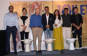 Toilet: Ek Prem Katha's  cast at Press conference