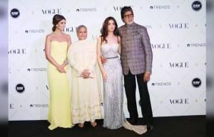 Jaya Bachchan, Navya Naveli Nanda and Amitabh Bachchan