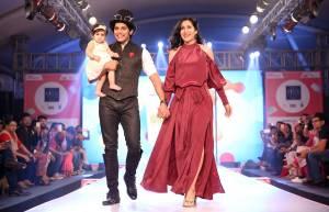 Karanvir Bohra and Teeja Sidhu with Vienna