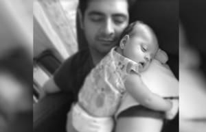 Karan Mehra with his son Kavish
