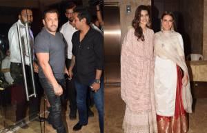 Salman Khan, Kritisenon, Neha Dhupia,