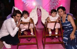 Cuteness overloaded! Karanvir-Teejay's munchkins turn one
