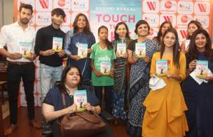 Zee TV actors at the book launch of  'Touch the Sky'