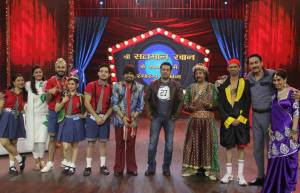 Salman Khan shoots for Discovery Jeet's Comedy High School