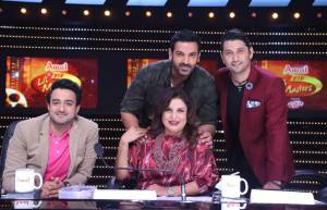 John Abraham visits the sets of Zee TV's DID Li'l Masters