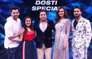 Neha Kakkar & Himansh Kohli on the sets of &TV's High Fever
